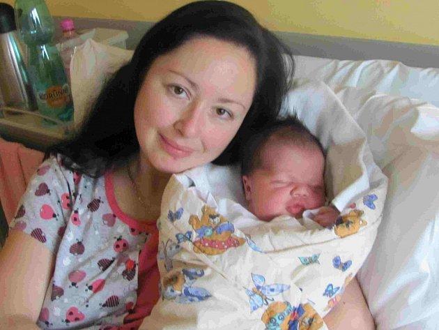 Lucie Břendová porodila v táborské nemocnici první miminko roku.