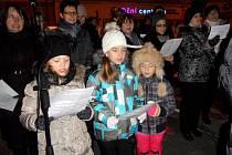 V první řadě také zpívali děti ze ZUŠ Soběslav.