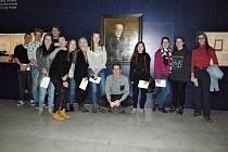 Studenti Táborského soukromého gymnázia navštívili v rámci dějepisného semináře výstavu mapující život T. G. Masaryka.