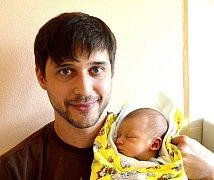 ROBIN BÁRTA Z TÁBORA. Rodiče Petra a Jára se svého prvorozeného syna dočkali 20. srpna v 11.18 hodin. Vážil 3500 g a  měřil 52 cm.