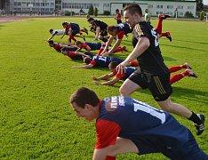 Hráči Spartaku Soběslav si zatím divizní působení užívají.
