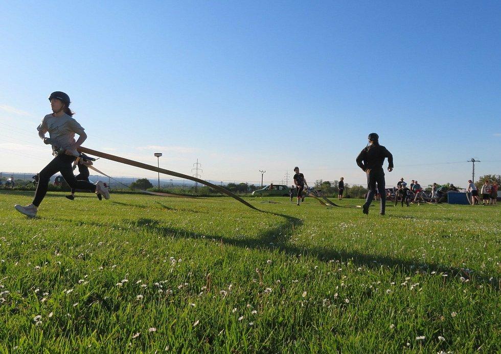 První trénink SDH Košice na fotbalovém hřišti ve středu 2. června 2021.