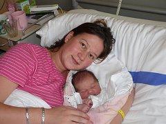 VALERIE MAŇÁKOVÁ Z JISTEBNICE. První dcera Veroniky a Miroslava se  narodila 15. října v 15.20 hodin.Vážila 3610 g, měřila 51 cm.