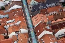 Obraz v Krajinská ulici v Českých Budějovicích