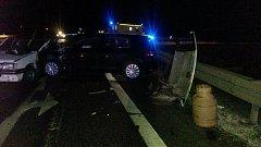 Tragická dopravní nehoda u Veselí nad Lužnicí.