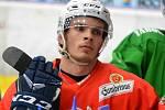 Novic mezi kohouty Jan Matiášek  na havlíčkobrodském ledě dvakrát skóroval, k úspěchu to ale nepomohlo.