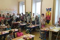 První školní den na Základní škole Komenského v Soběslavi.