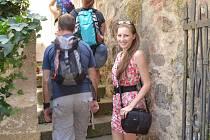 Turisté hojně navštěvují i hrad Kotnov.