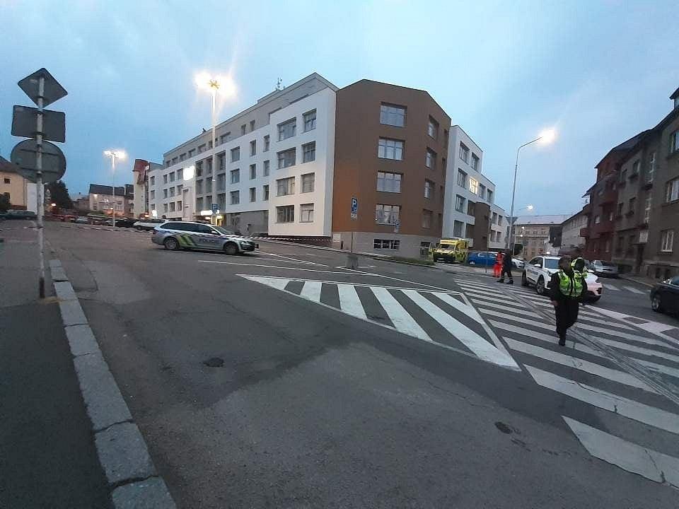 Vančurova ulice v Táboře byla ve středu po několik hodin uzavřena.