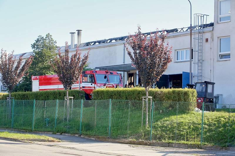 V Táboře hořela galvanovna firmy Brisk.