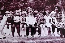 Předškoláci ve Svinech. 70. léta 20. století.