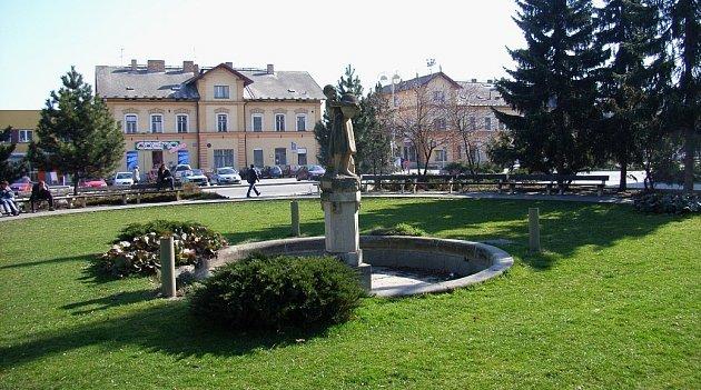 Husův park v Táboře. Ilustrační foto.