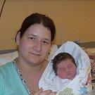 Denisa Prokopová z Nové Vsi u Chýnova. Narodila se 13. ledna v 10.49 hodin s váhou 3740 gramů a mírou 50 cm. Je druhým dítětem v rodině, má doma brášku Davídka (3).