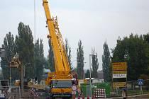 Práce na mostě ve Veselí nad Lužnicí. Ilustrační foto