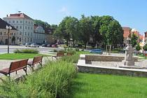 Bývalý domov pro seniory na náměstí TGM v Bechyni.