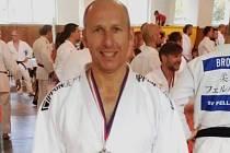 Karel Zivčák se stříbrnou medailí.