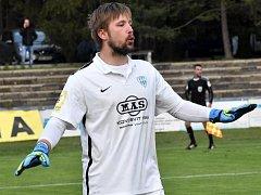 Brankář Táborska Michal Toma musel lovit míč ze své sítě pětkrát.