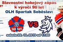 Slavnostní hokejový zápas k výročí 90 let OLH Spartak Soběslav