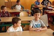 Začátek školního roku v ZŠ Helsinská Tábor, kterou vede Alena Heršálková se svou zástupkyní Hanou Hojdarovou.