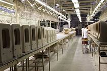 Továrna na keramiku Laufen v Bechyni.