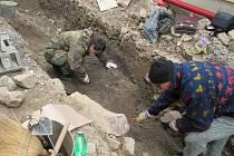 Archeologický průzkum v Klášterní ulici v Sezimově Ústí I.