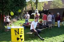 Protestní akce proti jadernému úložišti v uplynulých letech na Jistebnicku.