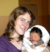 VÁCLAV STIX Z PLANÉ NAD LUŽNICÍ. Narodil se 8. února ve 14.15 hodin. První syn rodičů Lenky a Václava vážil 3780 g a  měřil 50 cm.