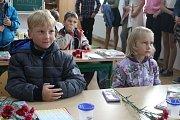 První školní den v Borotíně.