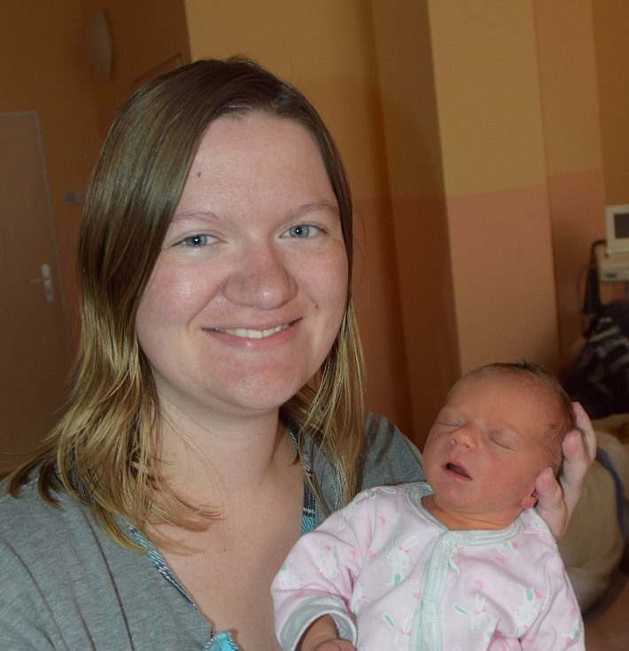 Anežka Tychtlová z Mladé Vožice. Rodiče Maruška a Milan se své prvorozené dcery dočkali 19. května ve 13.45 hodin. Malá Anežka po porodu vážila 2190 gramů a měřila 43 cm.