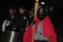 Košickými ulicemi letos prošel lampionový průvod posedmé, v čele kráčel svatý Martin s pochodní.