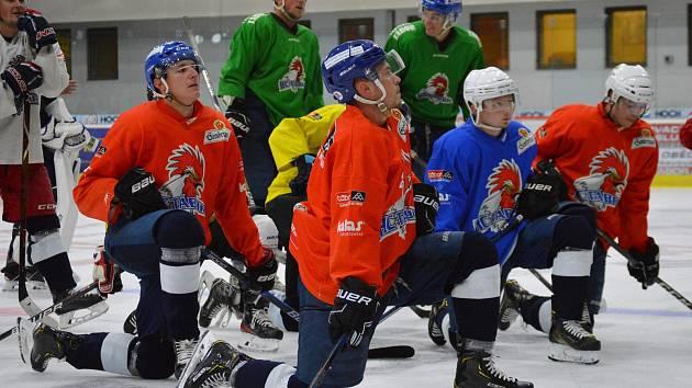 Táborští hokejisté na tréninku.