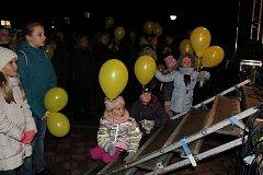 Balonky s vánočním přáním dolétly ze Sezimova Ústí až  do polské Poznaně.