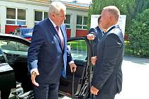 Prezident Miloš Zeman navštívil Bechyni.