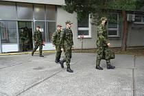 Na nová místa nastoupilo u 15. ženijního pluku v Bechyni celkem 41 vojáků.