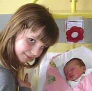 KATEŘINA MUSÍLKOVÁ ZE SEZIMOVA ÚSTÍ. Narodila se 16. dubna ve 22.43 hodin, vážila 2930 g a měřila 47 cm. Už má  dva sourozence.