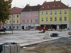 Náměstí Republiky v Soběslavi finišuje s rekonstrukcí