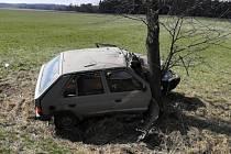 Nehoda u Roudné na Táborsku z pátečního dopoledne.