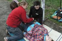 Žáci základních škol Táborska cvičně zachraňovali životy.