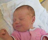 Magdaléna Kašparová z Kvašťova. Narodila se 8. července v 10.20 hodin. Vážila 3400 gramů, měřila 49 cm a doma už má téměř dvouletého brášku Vašíka.