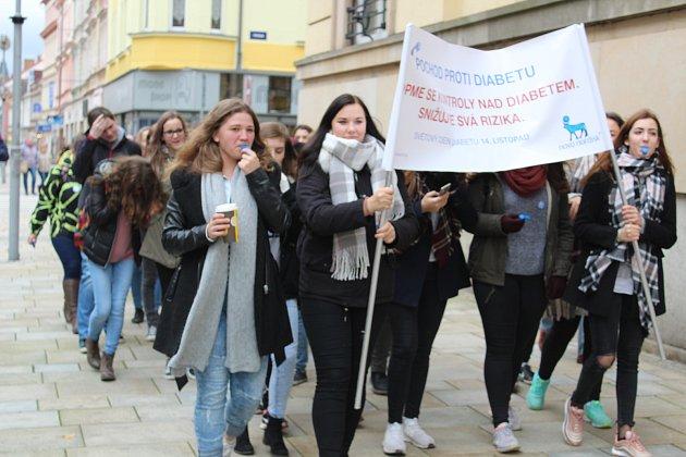 Táborská pobočka svazu diabetiků zorganizovala pochod městem.