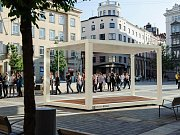 Moduly mají v létě oživit plochu náměstí TGM v centru Tábora.