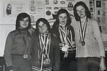 Členové Svazarmu v Myslkovicích v roce 1976.