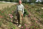 Na poli v Hlavňově u Havlů každoročně rozkvete na tisíce růží.