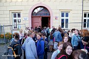 První školní den v ZŠ Mikuláše z Husi v Táboře.