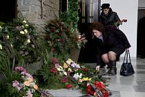 Pohřeb soudce Jiřího Bernáta, Tábor 28.listopadu.