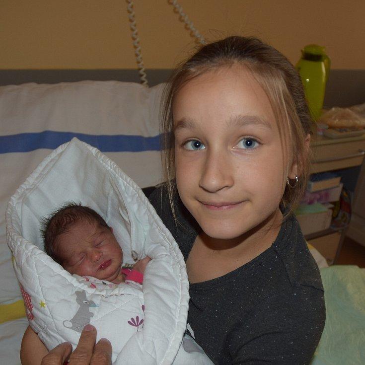 Ema Čepeláková z Tábora. Narodila se 7. května ve 22.15 hodins váhou 2730 gramů a mírou 49 cm. Je druhou dcerou rodičů Kateřiny a Pavla, doma už má sestřičku Karolínku , které je osm let.