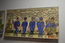 Galerie Záliv v sobotu večer zahájila výstavu Letecký komiks Otto Waldahause.