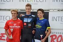 Roberta Kostlána (vlevo) dělily v Brně od vítězného Jakuba Marka pouhé tři sekundy.