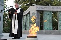 U pomníku Jana Husa v Táboře se ve středu večer konal pietní akt.