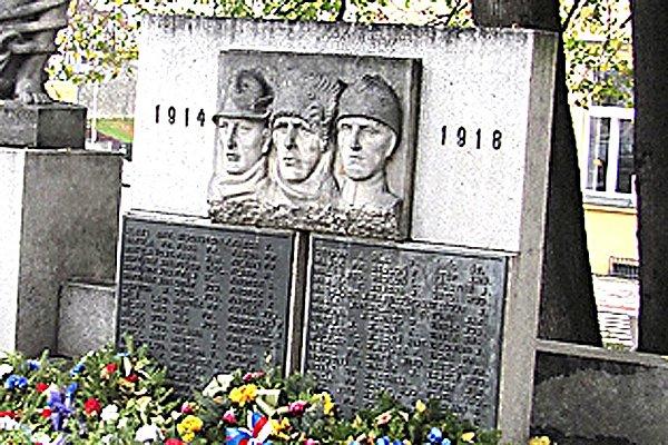 Pomník obětem první světové války vTáboře.